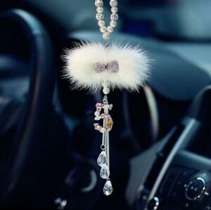 Crystal Car Rearview Mirror Pendant Hanging Ornament Love Car Accessories Decor