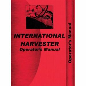 Operator s Manual International Super M Super M Super Mta Super Mta