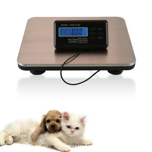 Newest 660lbs 300kg Platform Digital Scale Lcd Postal Shipping Pet Floor Bench