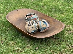 19th Century Hudson Valley New York Large Wooden Trencher Dough Bowl C1850
