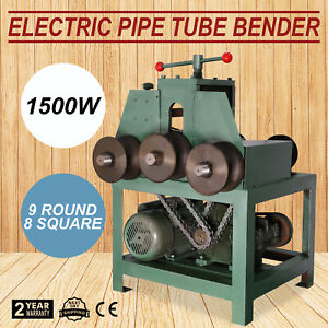 Electric Pipe Tube Bender 9 Round And 8 Square Roller Round 1400rpm 0 02 0 08