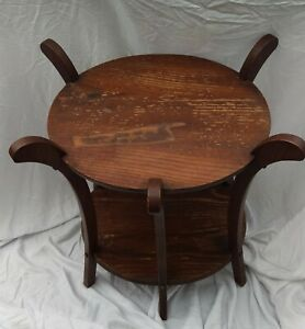 Vintage Lane Furniture Plant Stand Tiger Oak Wood Style 8 77 30 Double Tie