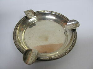 Schweitzer Silver Corp Sterling Silver Ashtray 4 1 4 W Good Cond