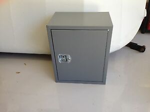 Adrain Steel 12 Shelf Cabinet Open Side