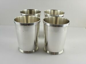 Manchester 3759 Sterling Silver Mint Julep Cups 3 3 4 Set Of 4 No Mono