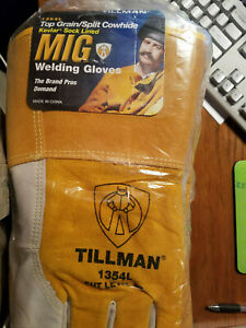 New Dozen Tillman 1354l Welding Gloves Kevlar Lined Top Grain Split Cowhide