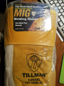 New Dozen Tillman 1354xl Welding Gloves Kevlar Lined Top Grain Split Cowhide