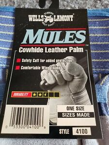 6 Pairs Wells Lamont Mules Cowhide Leather Palm Gloves One Size Plus 1 Free