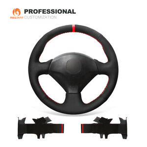 Black Suede Car Steering Wheel Cover For Honda S2000 Civic Si Acura Rsx