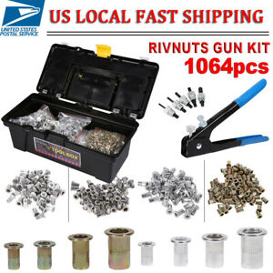 1064x Insert Hand Tool Riveter Rivet Nut Threaded Nutsert Kit M3 m8 Rivet Nut Us