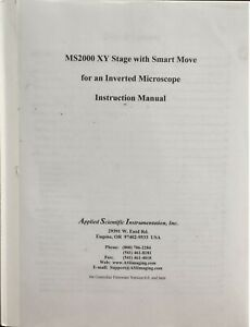 Asi Ms2000 Motorized Microscope Stage Instruction Manual
