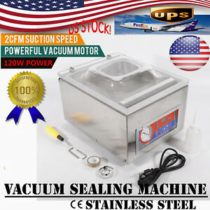 Vacuum Sealing Machine Commercial Hydraulic Pressure W Display Storage Kitchen