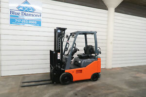 2014 Toyota 8fgcu15 3 000 Cushion Tire Forklift Lpg Fuel 3 Stage Sideshift
