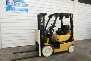 2012 Yale Glc040vx 4 000 Cushion Tire Forklift Three Stage Mast S s Low Hr