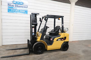 2012 Cat 2p5000 5 000 Lp Gas Forklift Pneumatic Tire Three Stage 4 Way S s