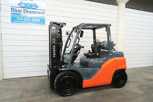 2015 Toyota Forklift 8fg35u 8 000 Pneumatic Lp Gas Three Stage 4 Way Hyd