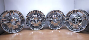 Set Of Four 20 Chrome Wheels Rims Daval Gda 207 20x8 5j 5 Lugs Universal