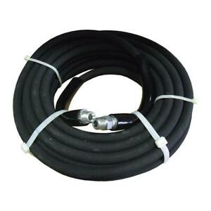 38x50 Water Pressure Washer Extension Hose Reel Black Synthetic Rubber Tubes New