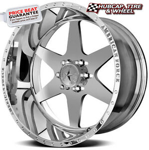 American Force Independence Ss6 Polished 20 x10 Wheels Rims 6 Lug set Of 4 New