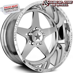 American Force Independence Ss5 Polished 20 x14 Wheels Rims 5 Lug set Of 4 New