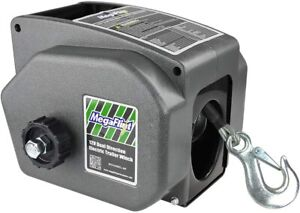 Portable Electric Winch 6000 Lb 12 Volt Remote Towing Hitch Truck Trailer Boat