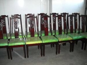 Vintage Chinese Rosewood Dragon Dining Chairs Asian Dragon Motif 22 Available