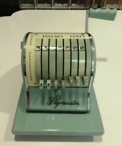 Paymaster 1000 Series Check Writer With Cover New Works Good Made In Usa