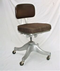 70 S Vintage Shaw Walker Desk Chair Mid Century Retro Industrial Aluminum Chair