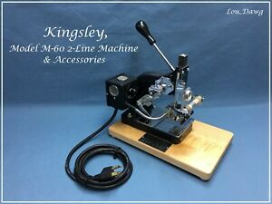 Kingsley Machine Model M 60 Two Line Accessories Hot Foil Stamping Machine