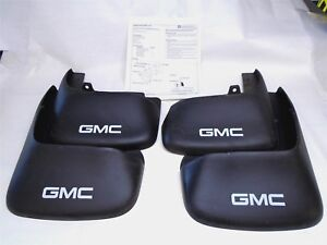 Gmc Splash Guards Mud Flaps Gm Part Number 12490805 Set Of Four Oem Truck