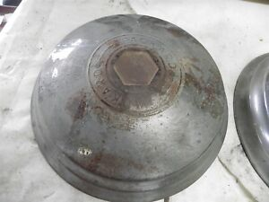 Packard Hub Caps Quantity 2 Size 12 3 4 Inch Nice Cool Wow Vintage Automotive