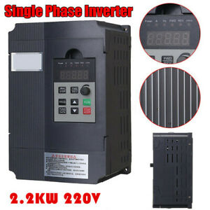 2 2kw Variable Frequency Drive Inverter Cnc Vfd Vsd Single To 3 Phase At1 2200s