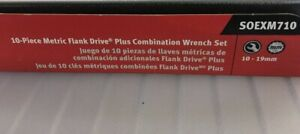 Snapon 10pc Metric Flank Drive Plus Reversible Ratcheting Combination Wrench Set