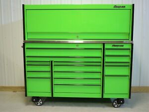 Snap On Extreme Green Krl1163 Tool Box Stainless Top Hutch