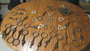 Lot Of 19 Vintage Lab Retort Stand Rings Holders clamps Industrial