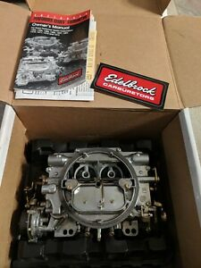 Edelbrock 1403 Carburetor 500 Cfm Performer Electric Choke Used