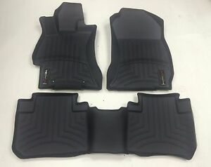 Weathertech For 14 Subaru Forester Front And Rear Floorliners Black