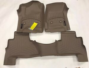 Weathertech Floorliner Mats For Cadillac Escalade 15 18 1st 2nd Row Tan