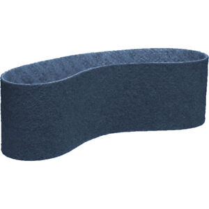 4 X 36 Inch Surface Conditioning Non Woven Sanding Belts Blue fine 5 Pack