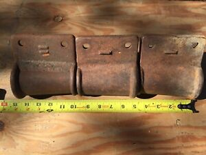 Antique Steampunk 3 Outside Corner Post Brackets Cast Iron Tapered