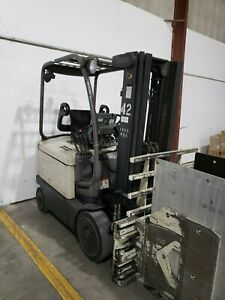 10 Available Electric Forklift 2002 Crown Fc4020 With Clamp