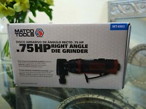 Matco 75 Hp 90 Angle Air Die Grinder Mt4883 Pneumatic Automotive Auto Body