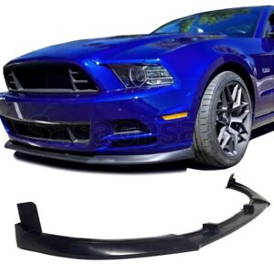 Fit For 13 14 Ford Mustang V6 V8 Gt 500 Style Front Pu Bumper Chin Lip Spoiler
