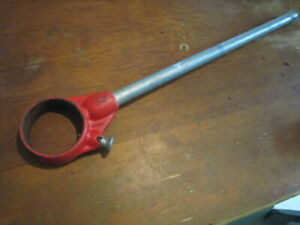 Ridgid Tools Usa 12r Pipe Threader Ratchet Tool Head With Handle Very Nice See