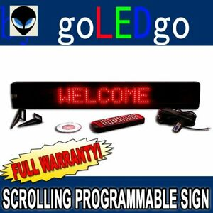 Goledgo Ultra Red Programmable Scrolling Led Message Sign 4 h X 26 l X 1 d