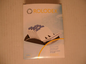 New Rolodex Rotary Business Office Card File 67082 Black 250 Cards
