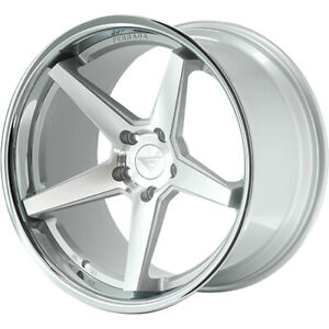 19x10 5 Silver Chrome Wheel Ferrada Fr3 5x112 38