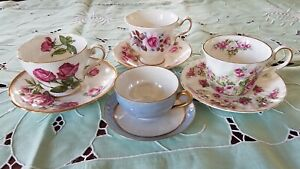 4 Fancy Vintage Tea Cups Saucer China Royal England Mother S Day