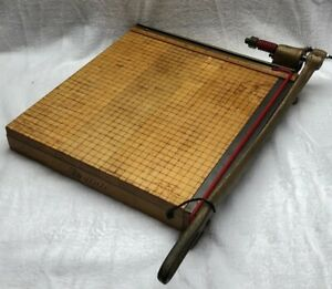 Vintage Ingento 5 Cast Iron Maple Guillotine Paper Cutter 15 5x15 5 1142