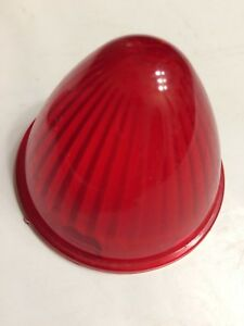 Vintage Red Beehive Bullet Style Pm 110 Marker Light Lens Auto Motorcycle